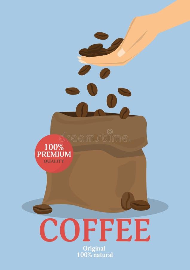 Affiche de café de café Illustration de vecteur illustration libre de droits