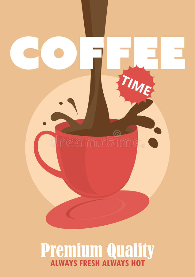 Affiche de café de café Illustration de vecteur illustration de vecteur