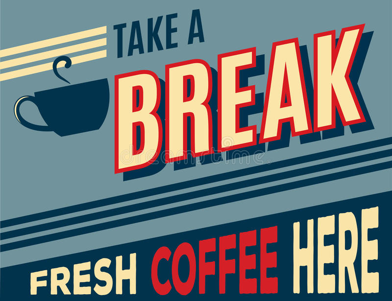 Affiche de café de la publicité rétro illustration de vecteur