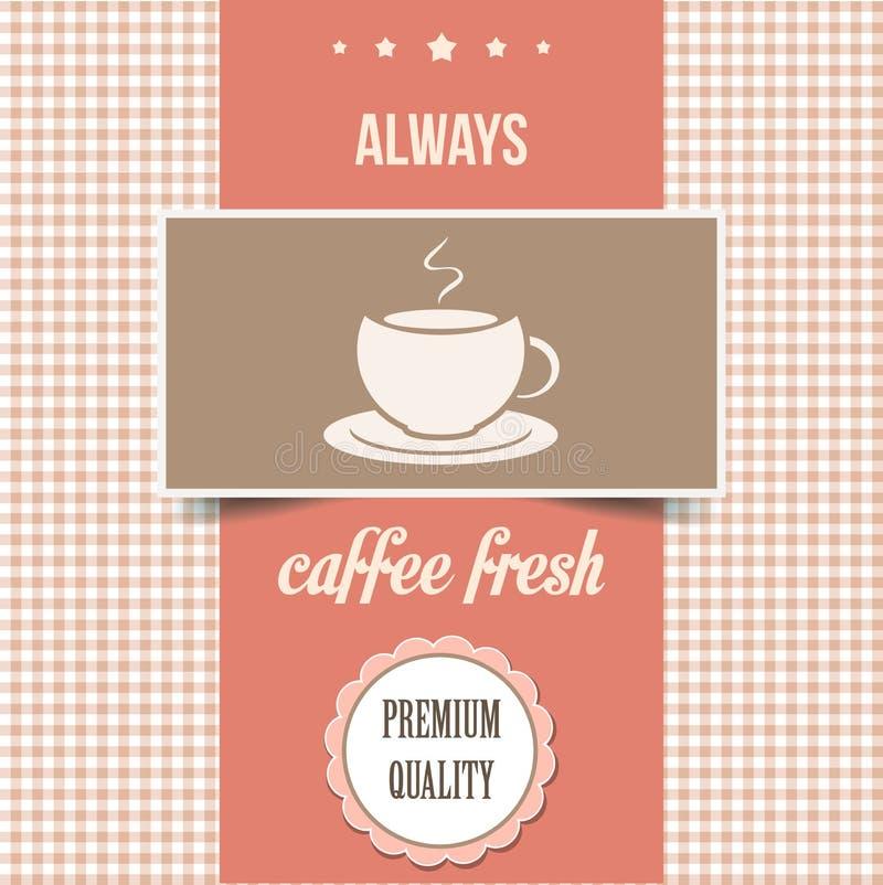 Affiche de café de vintage illustration libre de droits