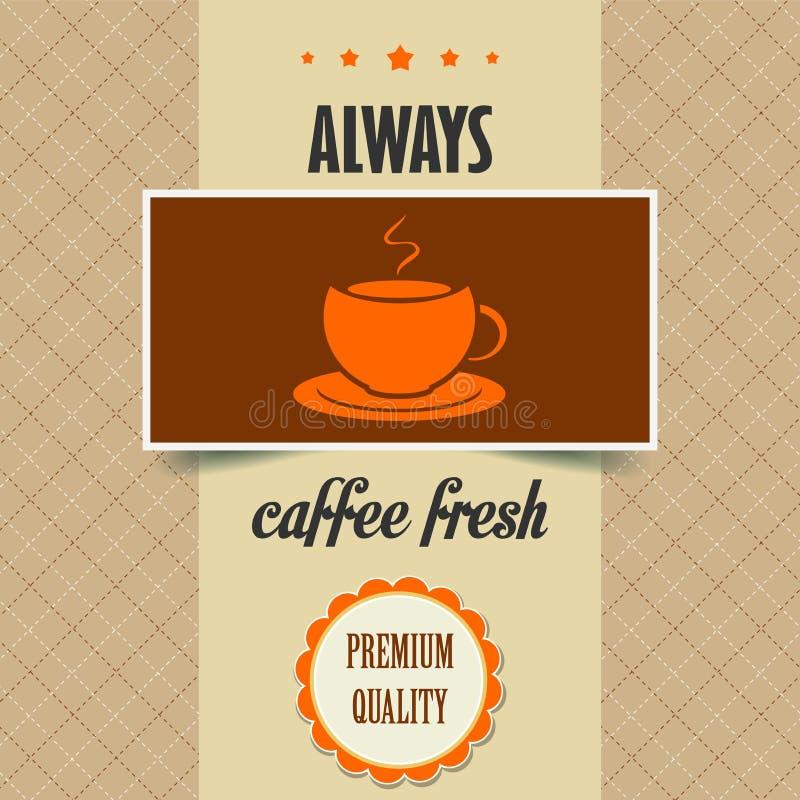 Affiche de café de vintage illustration de vecteur