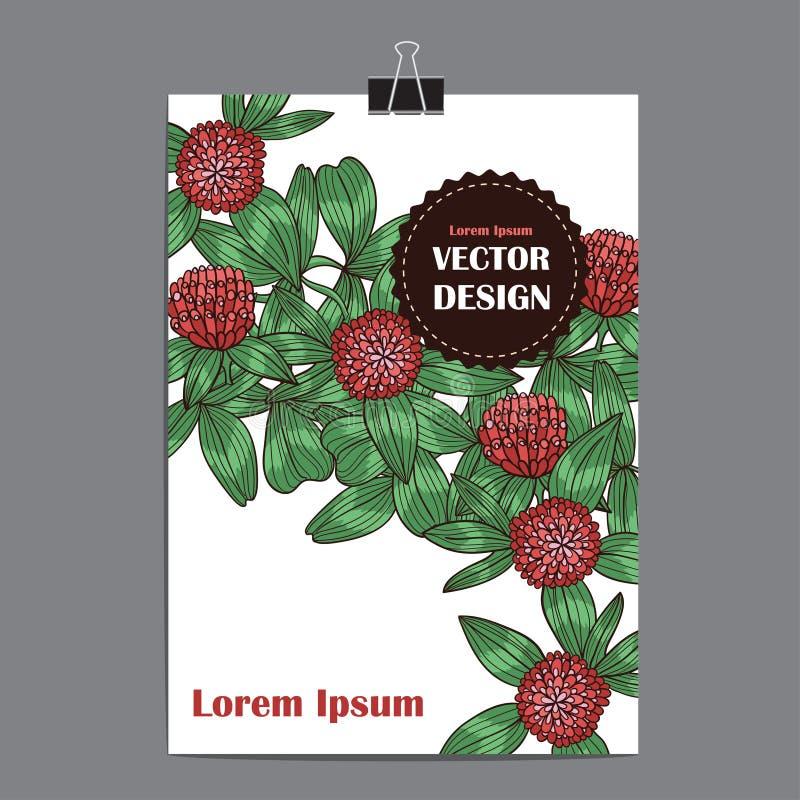 Affiche de calibre de vecteur avec le fond floral abstrait illustration de vecteur