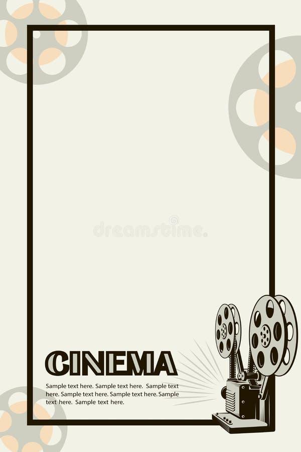 Affiche de cam?ra de film illustration stock