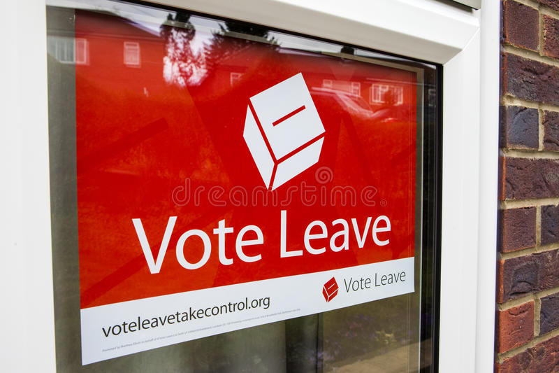 Affiche de campagne de congé de vote photographie stock libre de droits