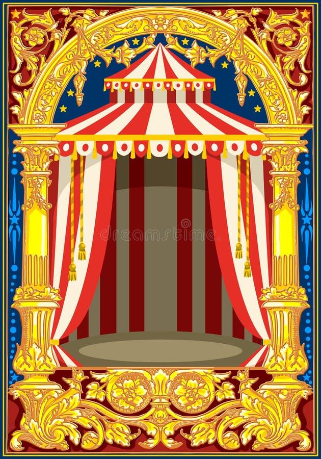 Affiche de carte d'anniversaire de cirque de carnaval illustration libre de droits