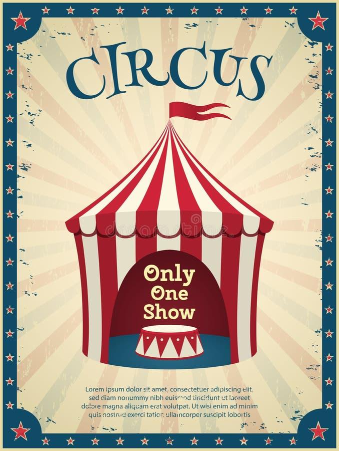 Affiche de cirque de vintage illustration de vecteur