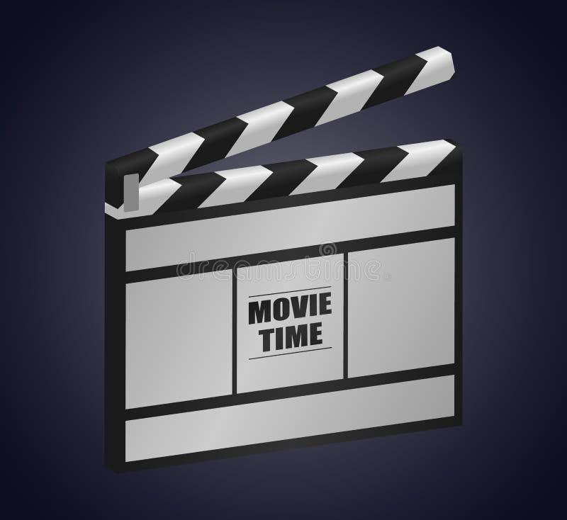 Affiche de concept de cinéma avec l'illustration de vecteur de bardeau illustration libre de droits