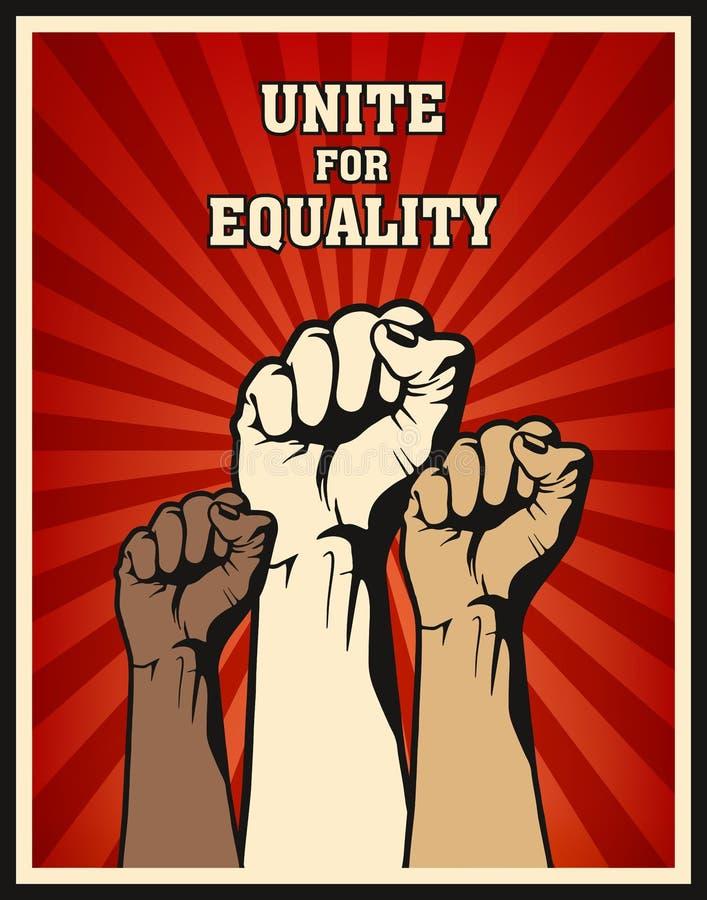 Affiche de concept de poing illustration libre de droits
