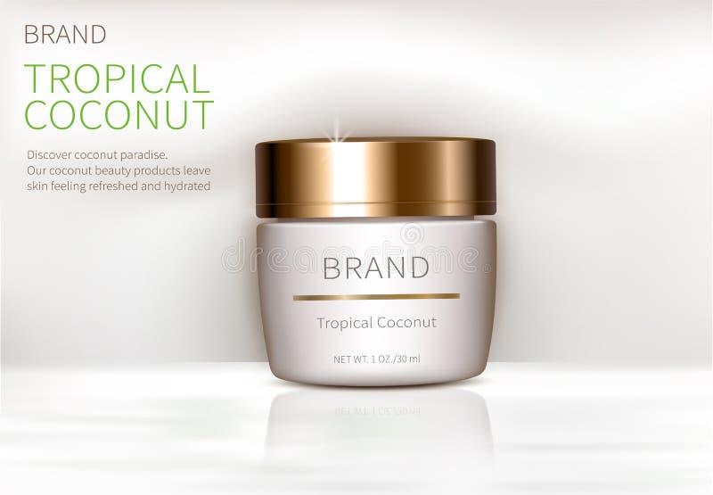 Affiche de concept pour la crème naturelle organique illustration libre de droits
