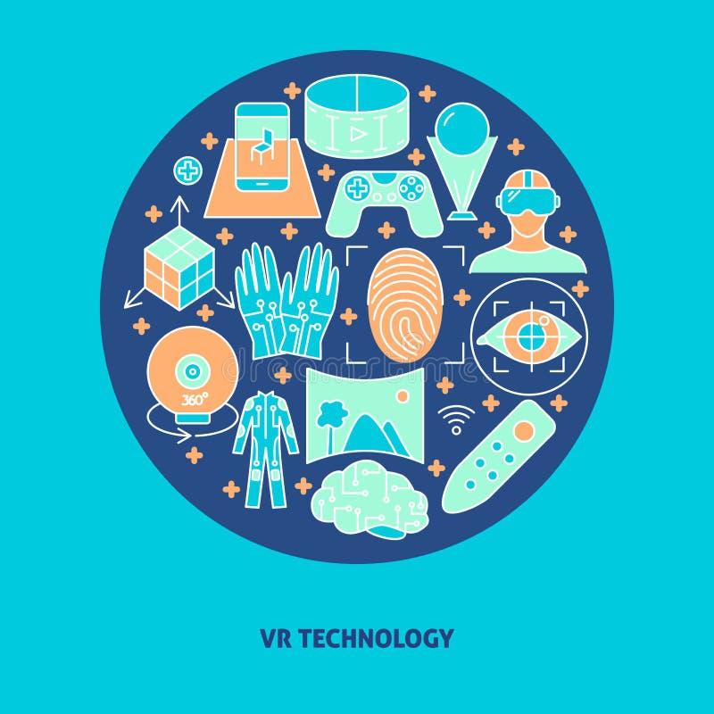 Affiche de concept de réalité virtuelle dans la discrimination raciale style illustration de vecteur