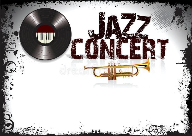 Affiche de concert de jazz illustration stock