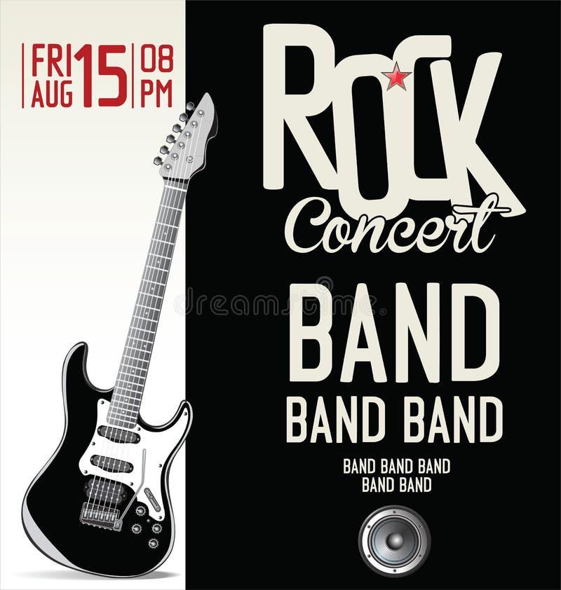 Affiche de concert de rock illustration libre de droits