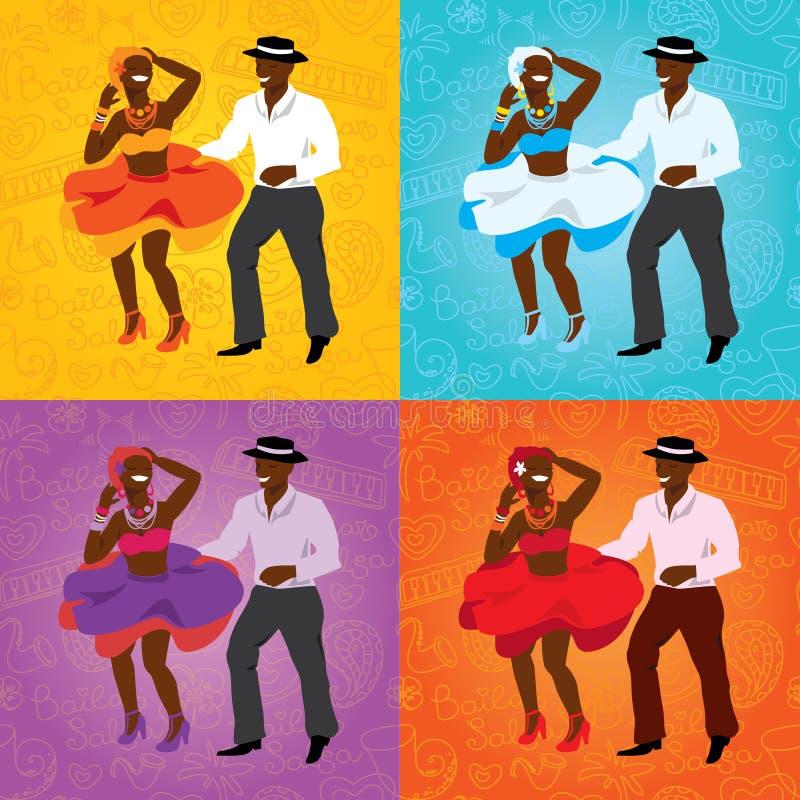 Affiche de danse de salsa pour la partie couples cubains for Musique barre danse classique gratuite
