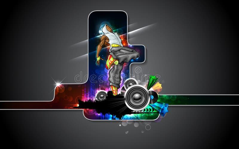 Affiche de danseur illustration de vecteur