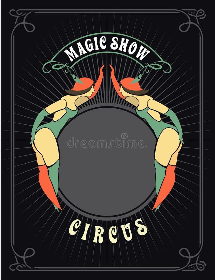 Affiche de danseur de cirque illustration de vecteur