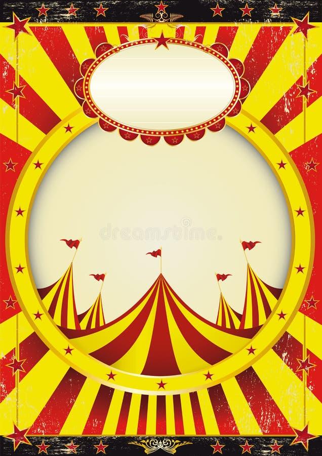 Affiche de divertissement de cirque illustration de vecteur