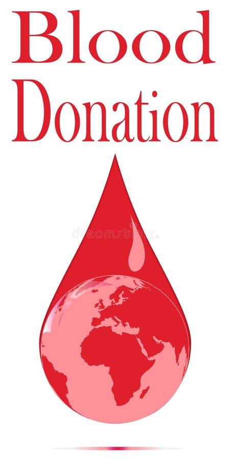 Affiche de don du sang illustration de vecteur