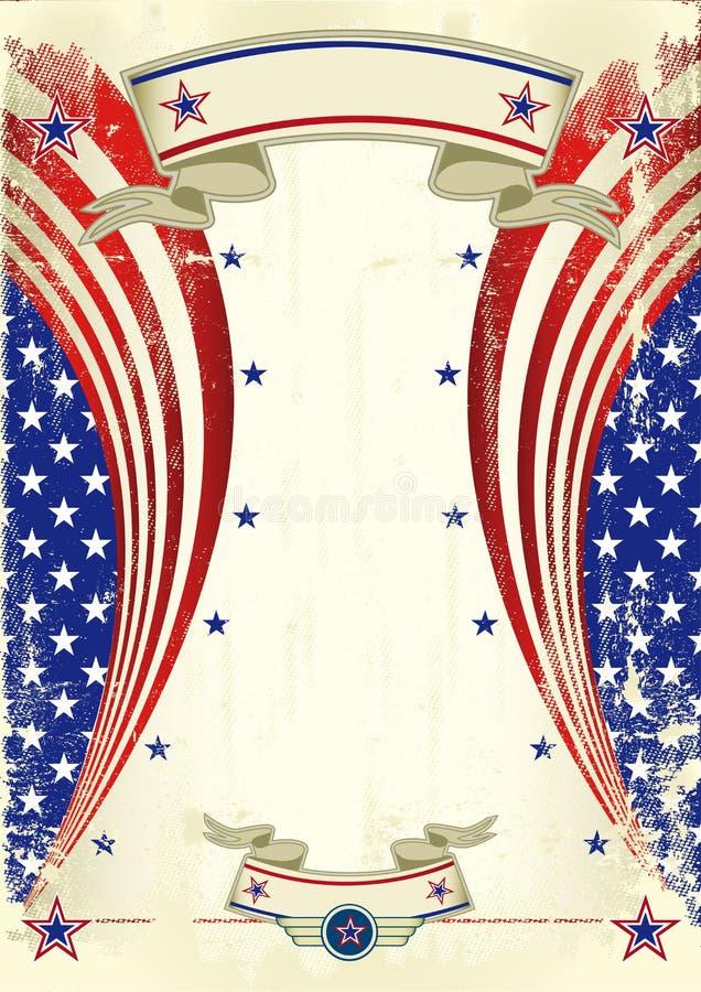 Affiche de fête américaine illustration stock
