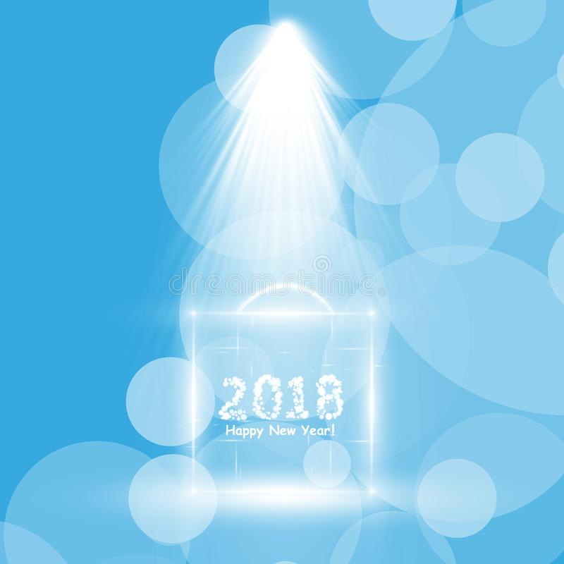 Affiche de fête de Noël Insecte heureux de la nouvelle année 2018, carte de voeux, invitation, calibre de conception de menu Illu illustration de vecteur