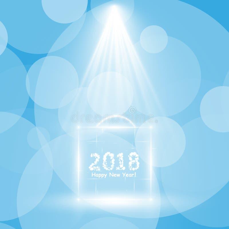 Affiche de fête de Noël Insecte heureux de la nouvelle année 2018, carte de voeux, invitation, calibre de conception de menu Illu illustration libre de droits
