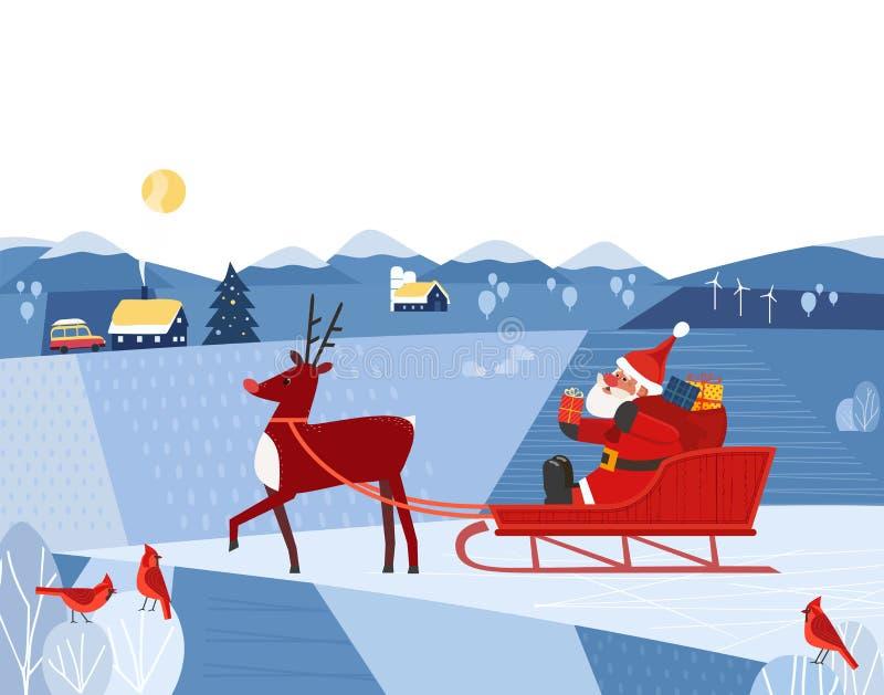 Affiche de fantaisie de vacances illustration de vecteur