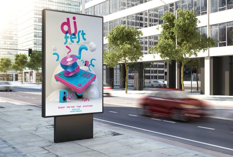 affiche de fest du DJ sur la ville illustration libre de droits
