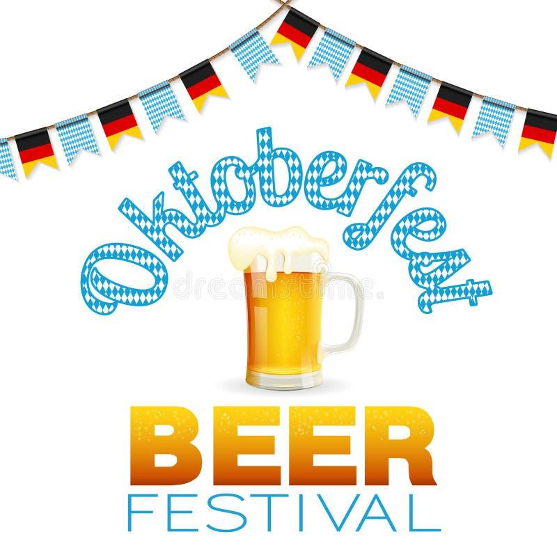 Affiche de festival de bière d'Oktoberfest illustration stock
