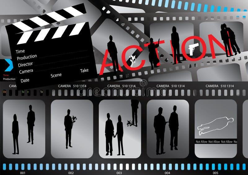 Affiche de film illustration de vecteur