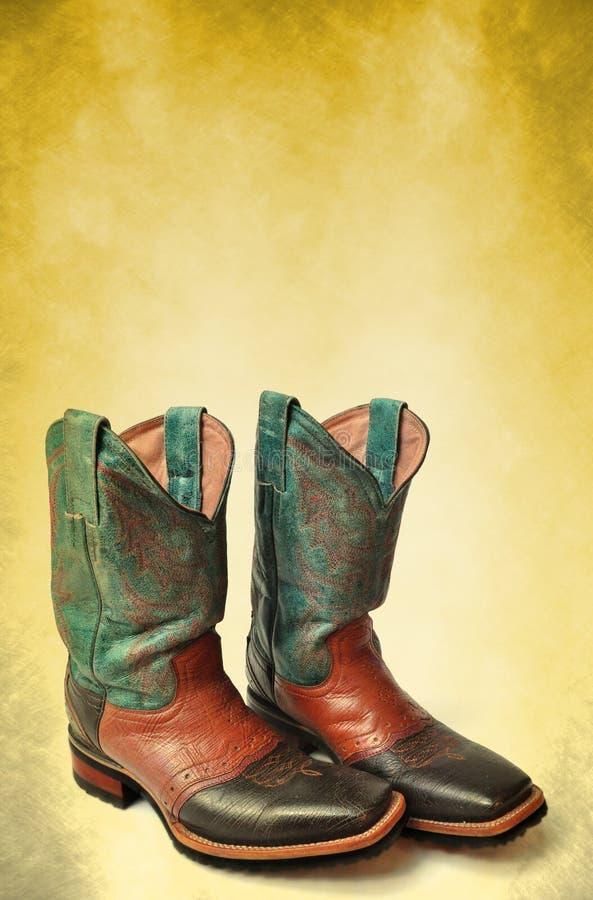 Affiche de gaines de cowboy de cru - descripteur de carte photo stock