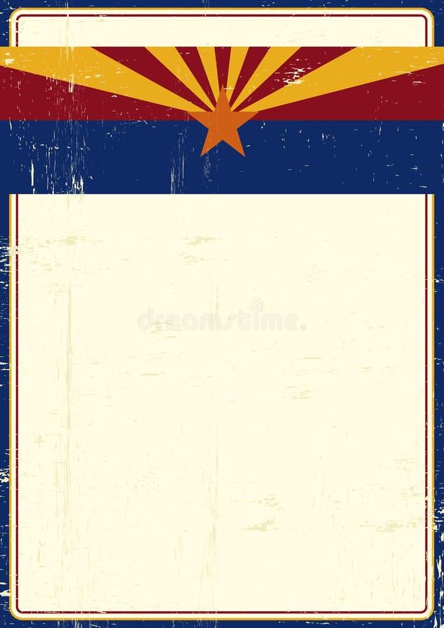 Affiche de grunge de l'Arizona illustration libre de droits