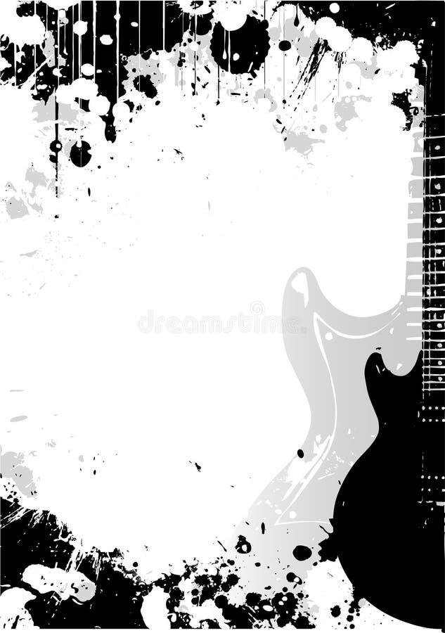 affiche de guitare électrique de fond illustration stock