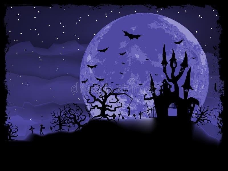 Affiche de Halloween avec le fond de zombi. ENV 8 illustration de vecteur