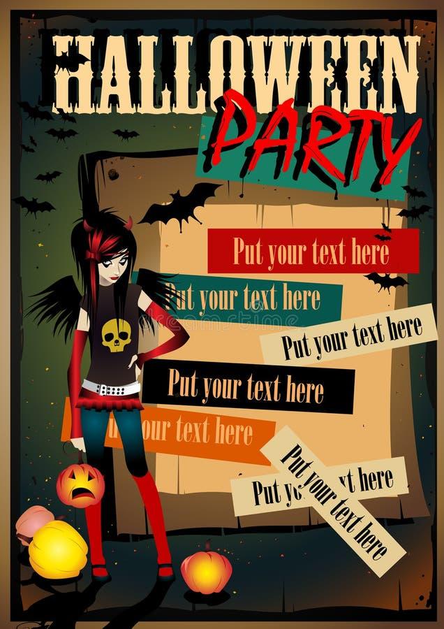 Affiche de Halloween de vecteur illustration stock