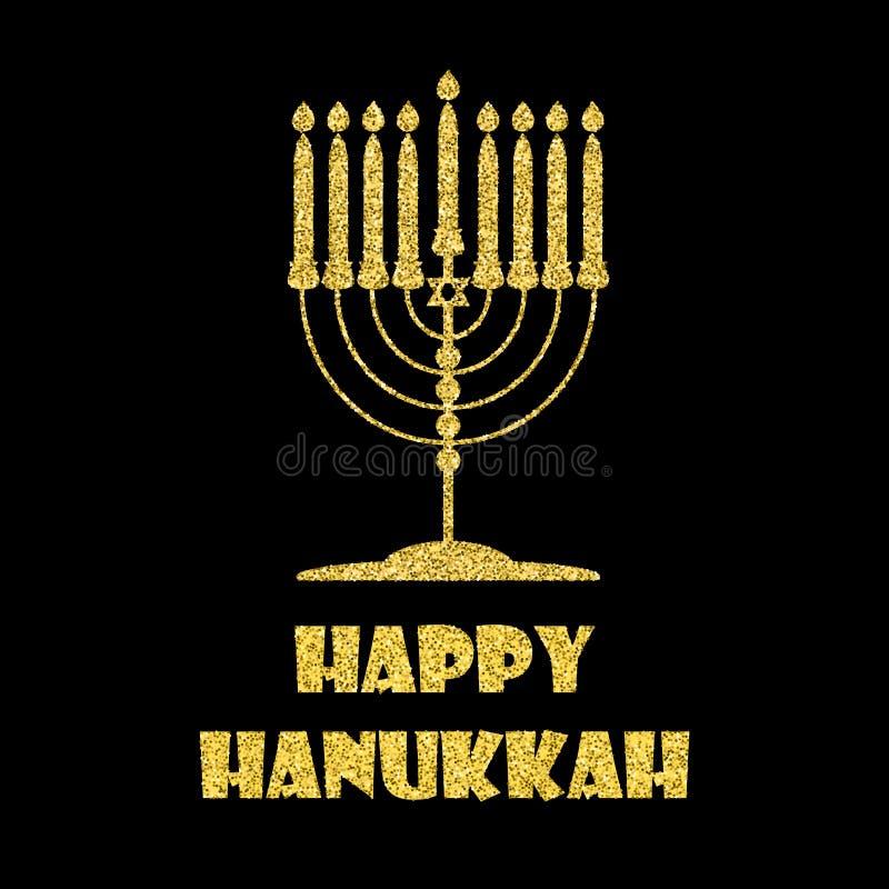 Affiche de Hanoucca avec le menorah illustration de vecteur