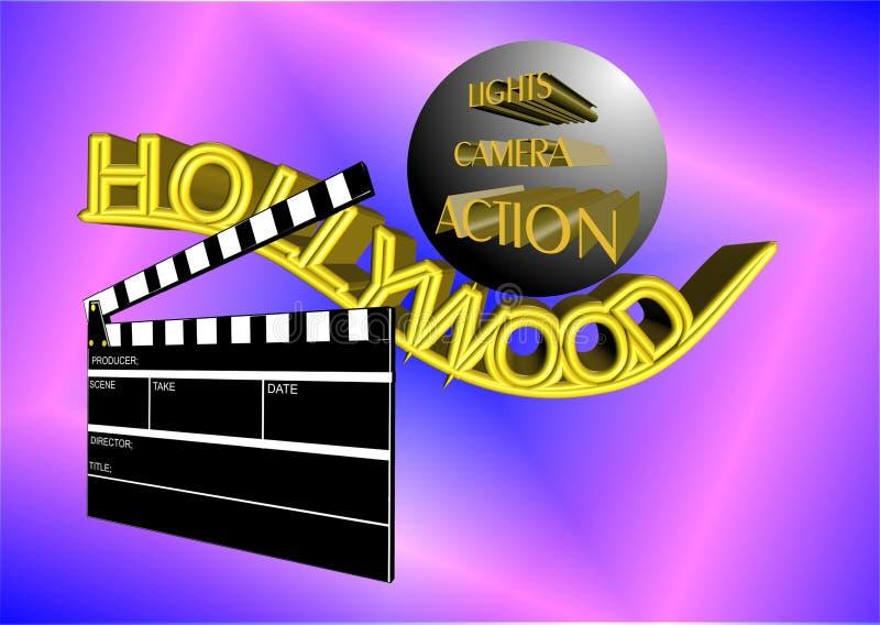Affiche de Hollywood illustration stock