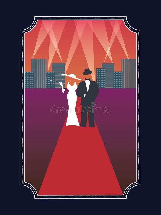 Affiche de hollywood de prix de l'Académie avec élégant illustration de vecteur