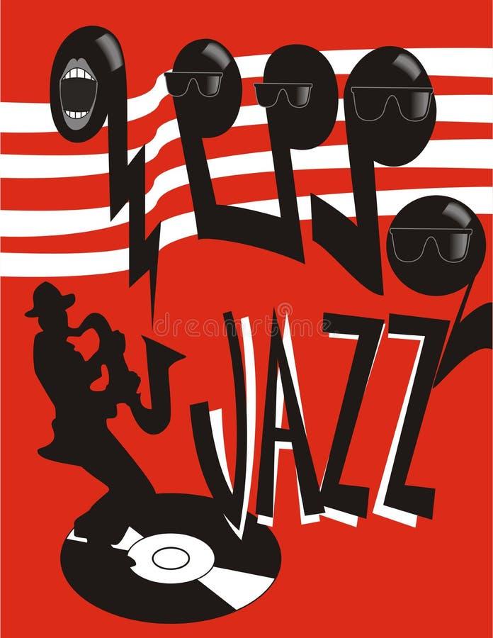 Affiche de jazz illustration stock