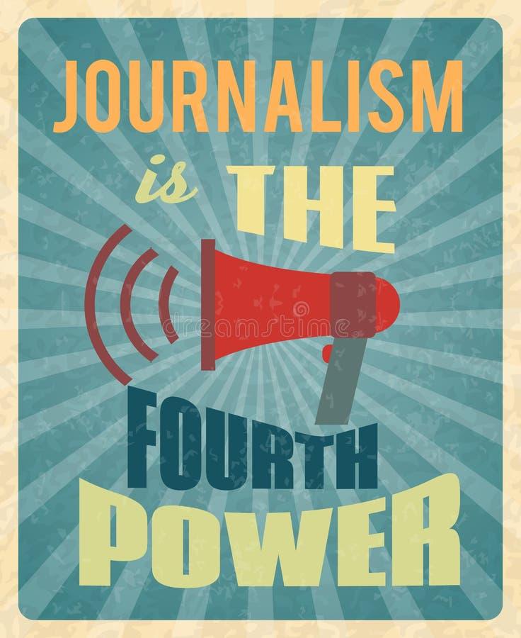 Affiche de journalisme illustration libre de droits