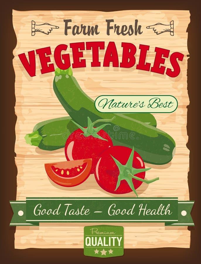 Affiche de légumes de conception de vintage illustration de vecteur