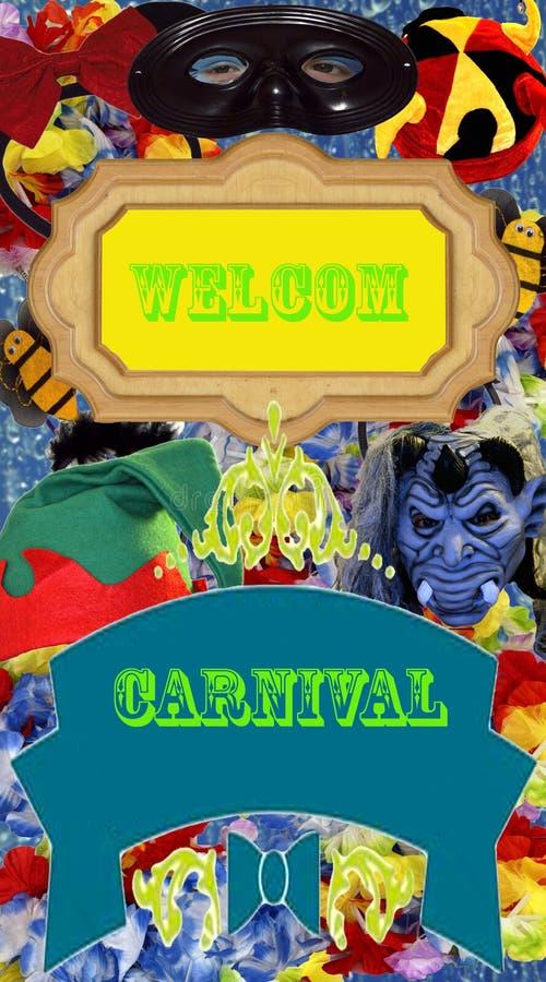 Affiche de la publicité de carnaval illustration de vecteur