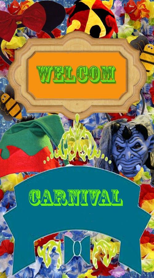 Affiche de la publicité de carnaval illustration stock