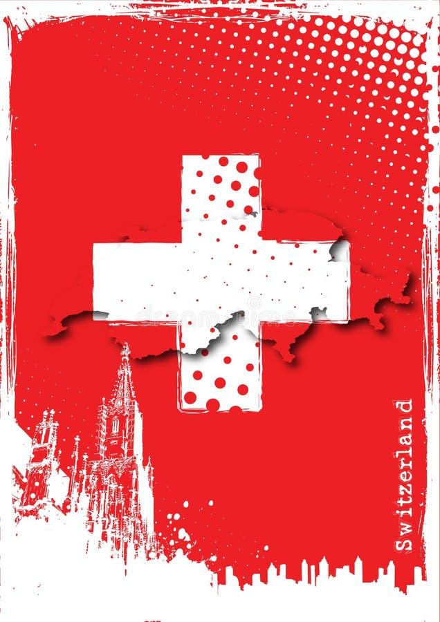 Affiche de la Suisse illustration libre de droits