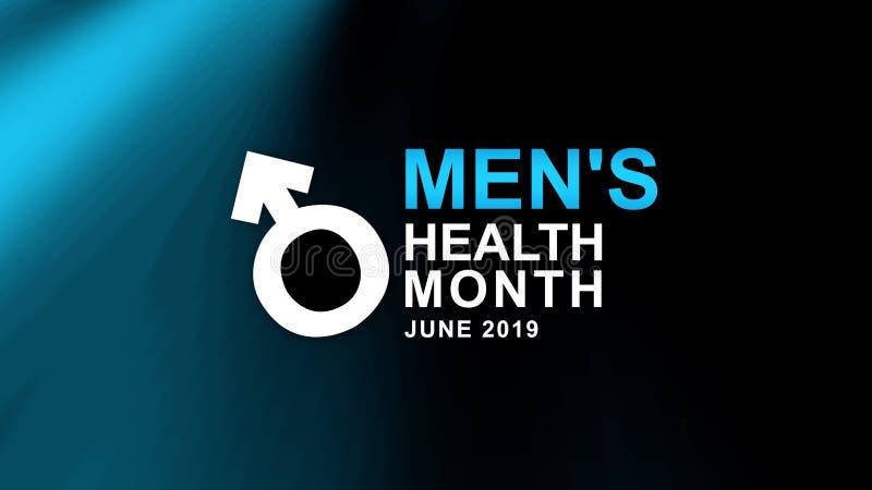 Affiche de mois de la santé des hommes et campagne de bannière - illustration de conception Concept de bien-?tre illustration libre de droits