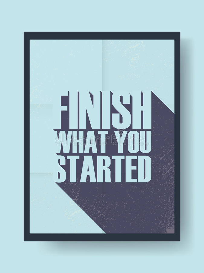 Affiche de motivation avec l'illustration inspirée de vecteur de citation Bannière sur le mur dans le rétro style de vintage et c illustration libre de droits