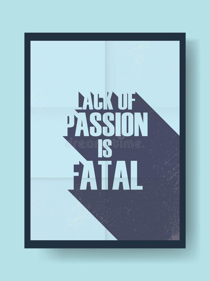 Affiche de motivation d'affaires au sujet de passion et illustration libre de droits