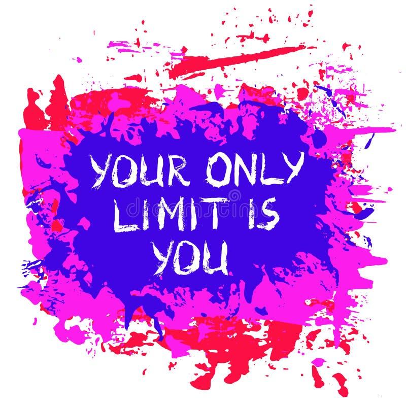 Affiche de motivation peinte illustration stock