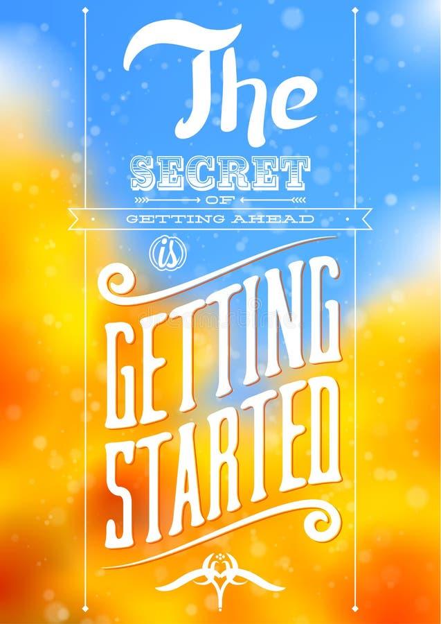 Affiche de motivation typographique de citation de vintage illustration libre de droits