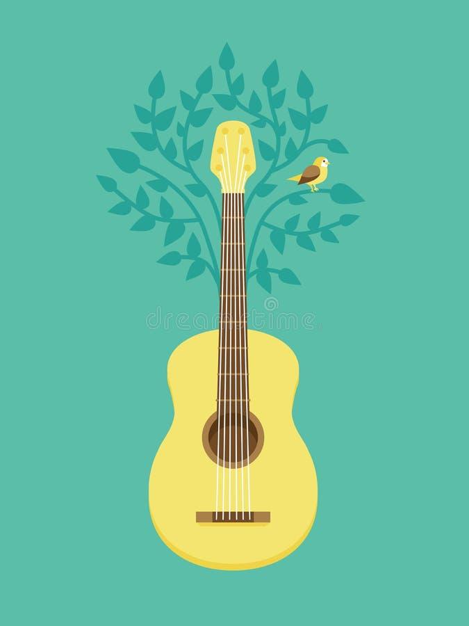 Affiche de musique de vecteur dans le rétro style plat illustration de vecteur