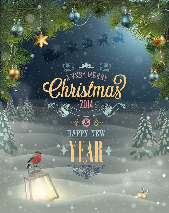 Affiche de Noël. illustration libre de droits