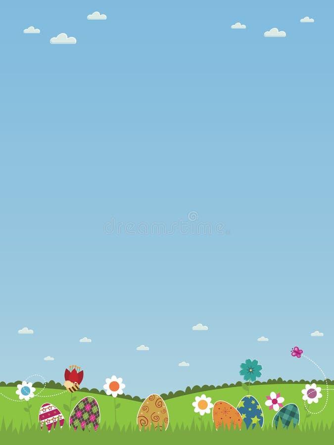 Affiche de Pâques illustration libre de droits